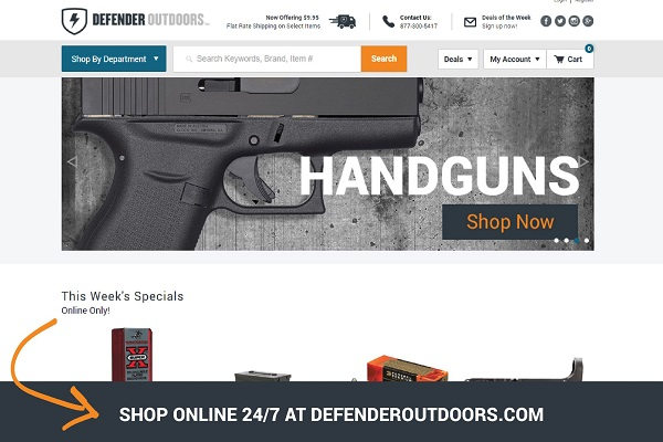 Defender Outdoors Shooting Center - Open office invoice template free cheapest online gun store